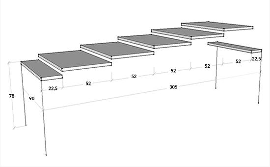Dimensioni consolle Ginevra L. 90