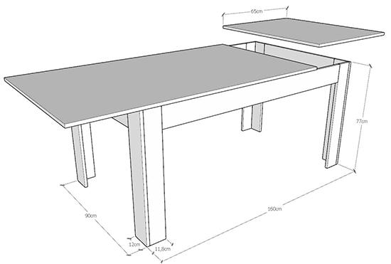 dimensione tavolo bibi
